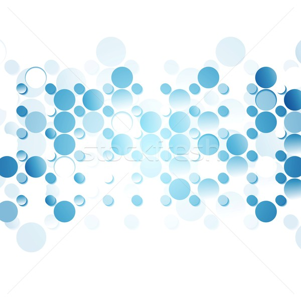 Azul abstrato círculos branco vetor tecnologia Foto stock © saicle
