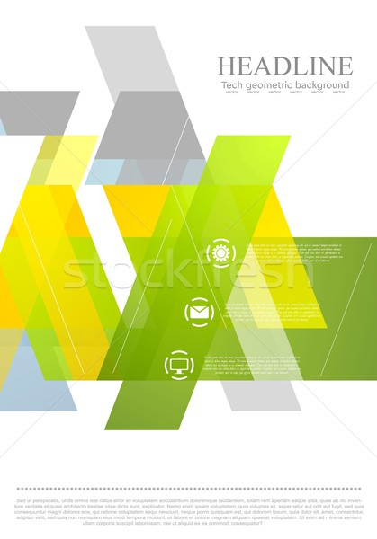 Streszczenie jasne minimalny geometryczny projektu wektora Zdjęcia stock © saicle