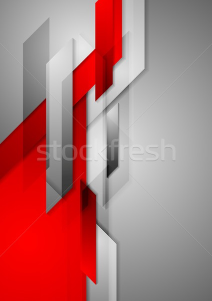 Red grey abstract hi-tech motion background Stock photo © saicle