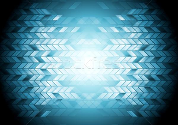 Hi-tech geometric blue background Stock photo © saicle