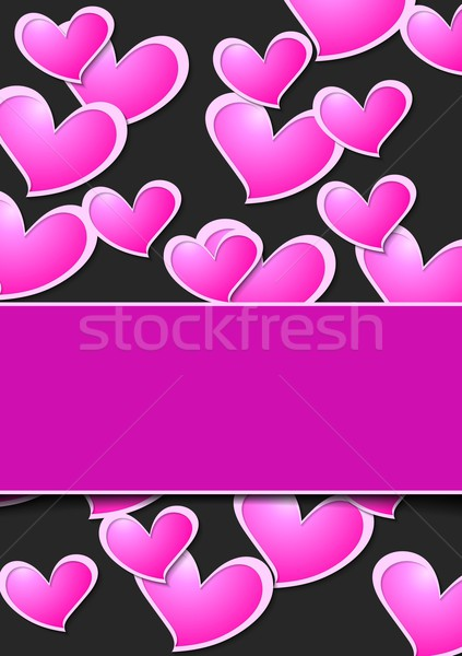 Valentine Day abstract background wit pink hearts Stock photo © saicle