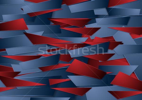 синий красный Tech геометрический аннотация Сток-фото © saicle