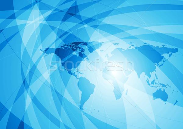Streszczenie tech falisty ziemi Pokaż niebieski Zdjęcia stock © saicle
