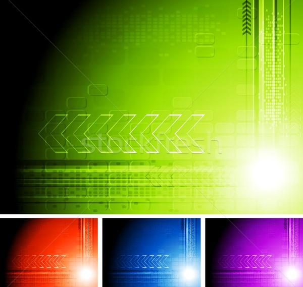 технической абстракция набор фоны прибыль на акцию 10 Сток-фото © saicle
