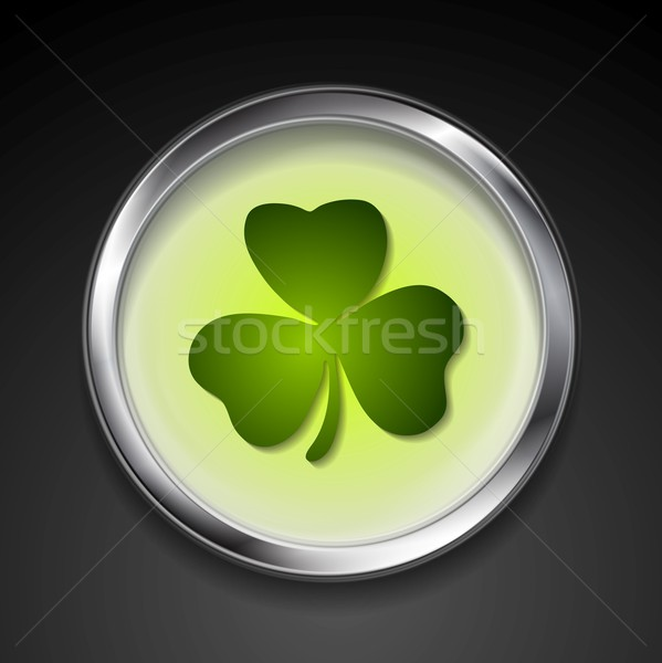 Abstrato vetor botão shamrock eps 10 Foto stock © saicle