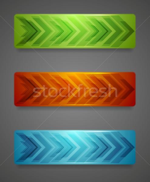 Vector banners pijlen abstract textuur ontwerp Stockfoto © saicle