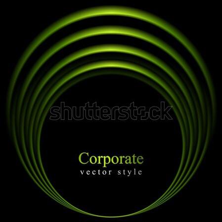 Grünen glänzend Kreis logo-Design Vektor Textur Stock foto © saicle