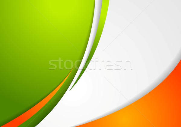 Corporate wavy abstract background. Irish colors Stock photo © saicle