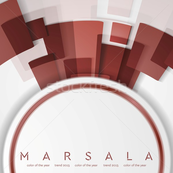 Trendy color marsala 2015. Technology abstract background Stock photo © saicle