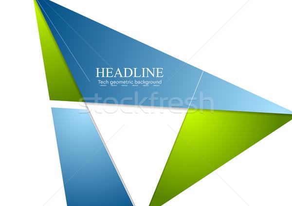 минимальный Tech корпоративного брошюра дизайна технологий Сток-фото © saicle