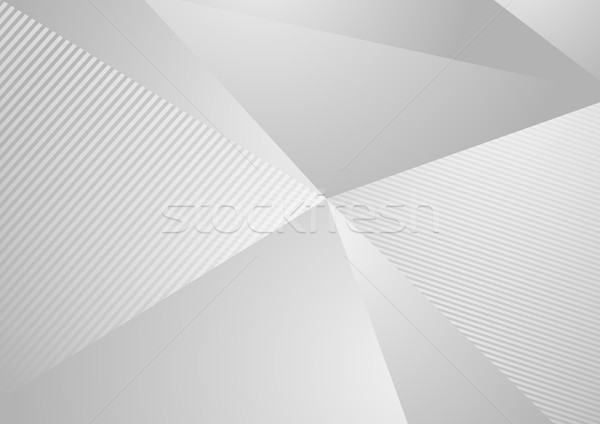 Grey abstract concept polygonal tech background Stock photo © saicle