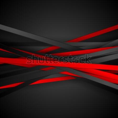 Tech контраст красный черный вектора Сток-фото © saicle