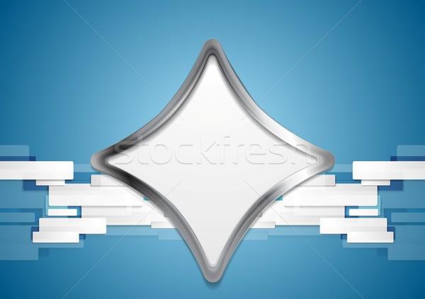 Blauw metaal vorm vector ontwerp textuur Stockfoto © saicle