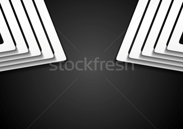 Stock photo: Abstract black and white vector background