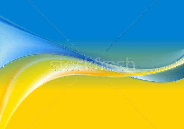 Wavy background Ukrainian flag colors Stock photo © saicle