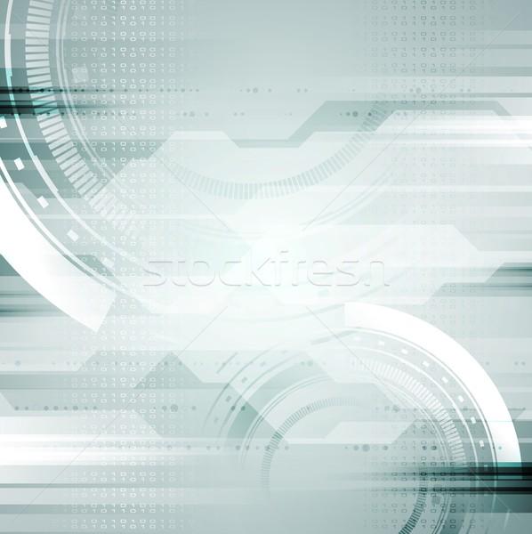 Vector abstract lichtblauw internet achtergrond kunst Stockfoto © saicle
