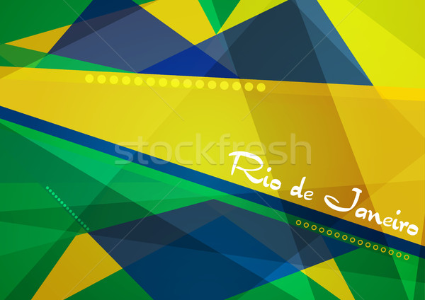 Abstract meetkundig Brazilië vector 2016 grafisch ontwerp Stockfoto © saicle
