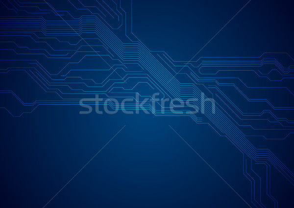 Dark blue circuit board technology futuristic background Stock photo © saicle