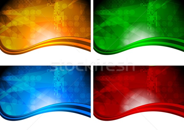 Four beautiful vibrant backdrops Stock photo © saicle