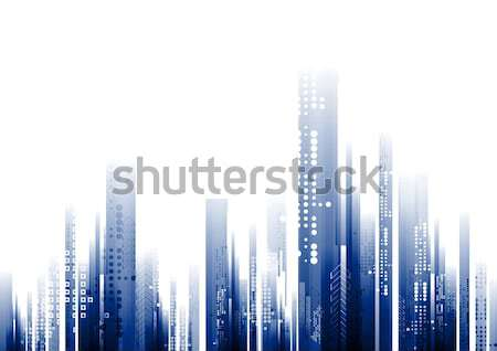 Abstract blue tech geometry background Stock photo © saicle