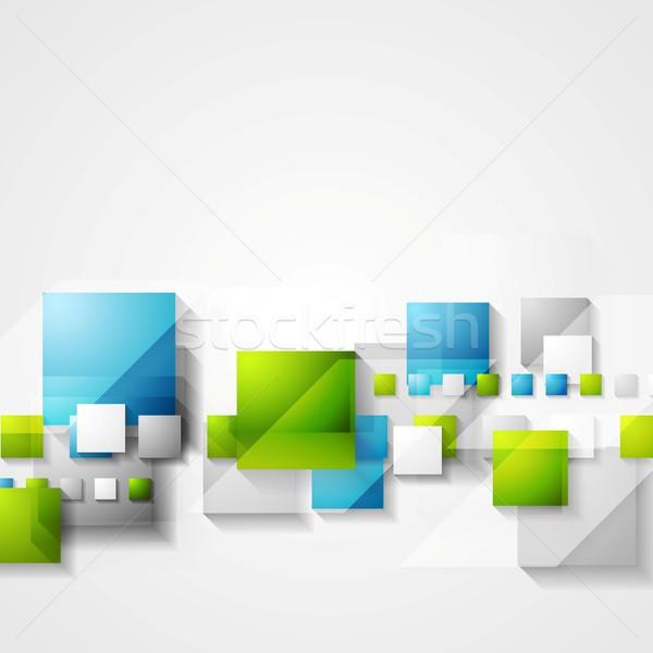 Brilhante verde azul vetor projeto Foto stock © saicle
