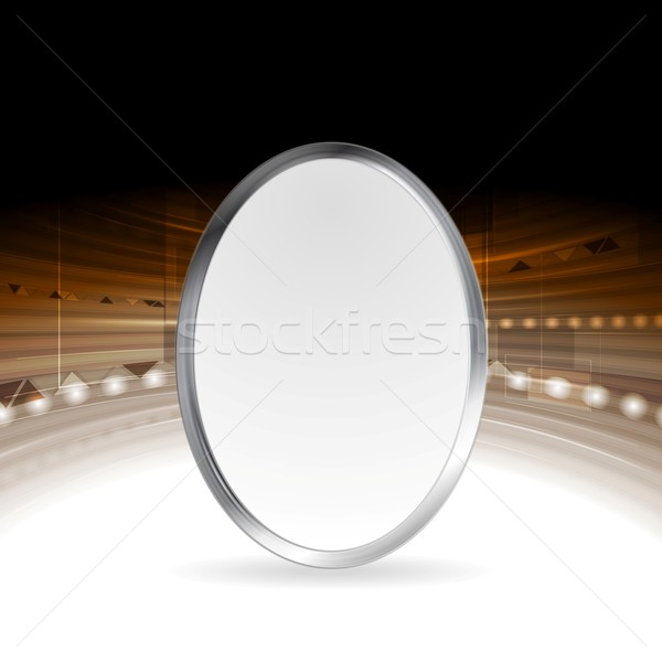 Tech abstract background with metallic ellipse Stock photo © saicle