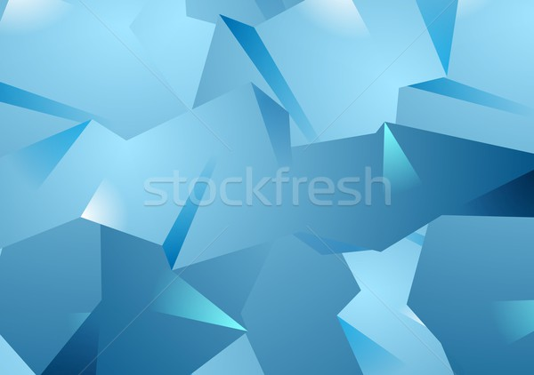 Blue technology polygonal vector background Stock photo © saicle