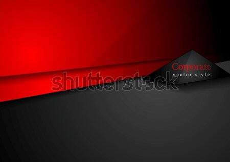 Red black contrast tech minimal design Stock photo © saicle