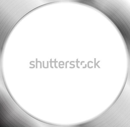 ストックフォト: 抽象的な · メタリック · 銀 · サークル · フレーム · ベクトル