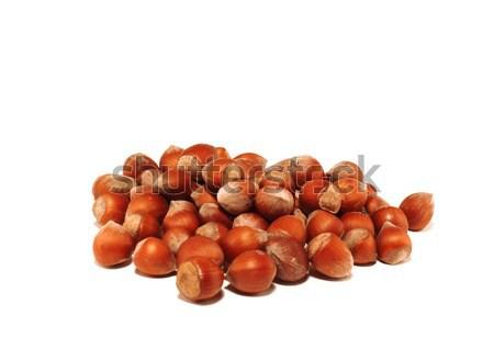 Pequeño grupo nueces blanco madera Foto stock © saicle