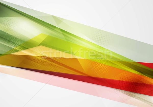 Renkli geometri vektör soyut doku ışık Stok fotoğraf © saicle