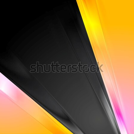Abstract pink and yellow contrast background Stock photo © saicle