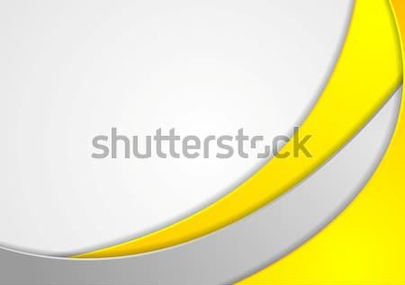 Orange corporate wavy background Stock photo © saicle