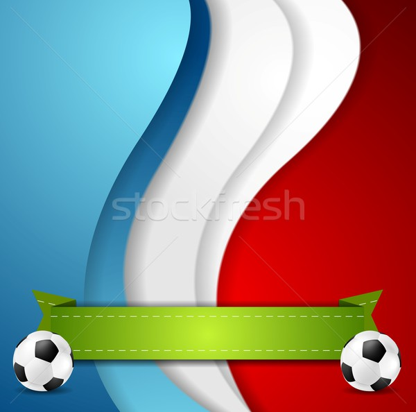 Euro futebol campeonato 2016 França gráfico Foto stock © saicle
