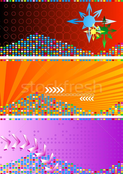 Ingesteld heldere abstract banners oranje Rood Stockfoto © saicle
