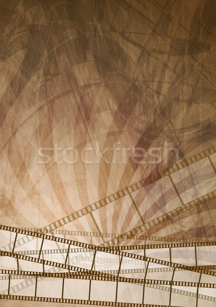 Grunge brown filmstrip abstract background Stock photo © saicle