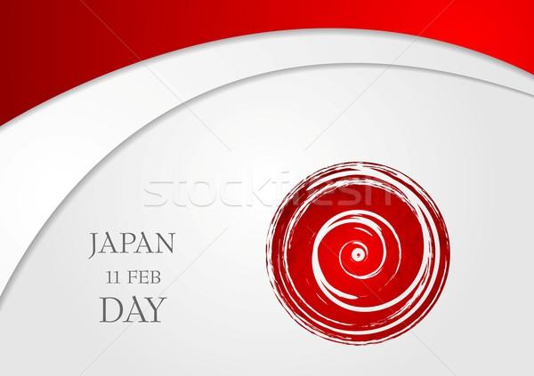 Luminoso ondulato abstract Giappone giorno japanese Foto d'archivio © saicle