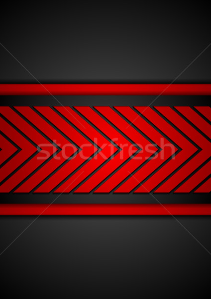 Contrast red black arrows vector design Stock photo © saicle