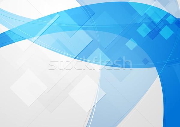 ярко синий абстракция аннотация Tech фон Сток-фото © saicle