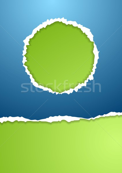 Stock photo: Abstract ragged paper vector background