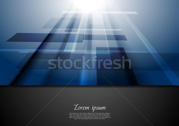 Niebieski ruchu wektora nowoczesne tekstury streszczenie Zdjęcia stock © saicle