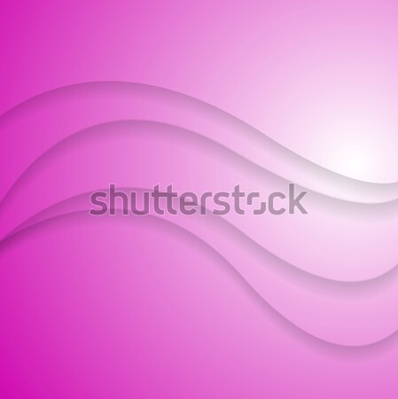 Abstract pink wavy background Stock photo © saicle