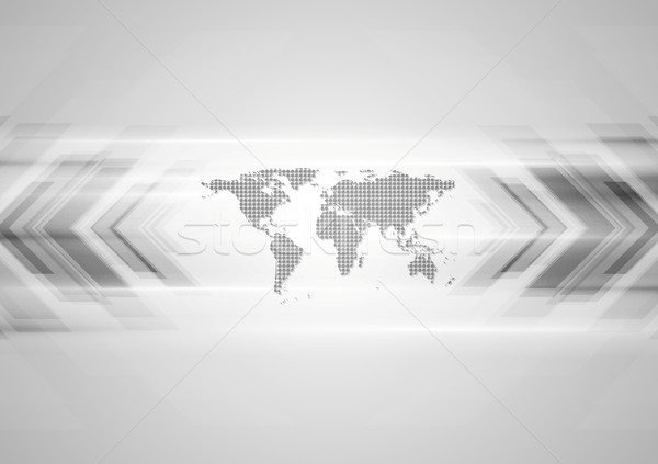 Hi-tech background with arrows and map Stock photo © saicle