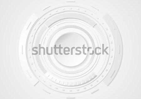 ストックフォト: グレー · 抽象的な · サークル · 技術 · ベクトル · デザイン