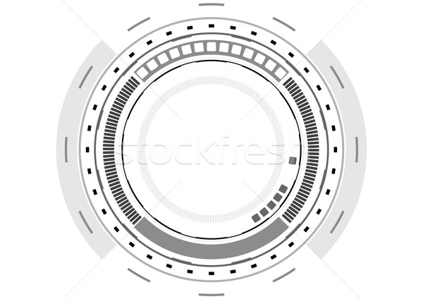Grey technology futuristic HUD interface Stock photo © saicle