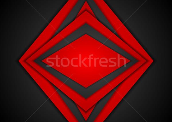 Abstract contrast meetkundig vector tech Stockfoto © saicle