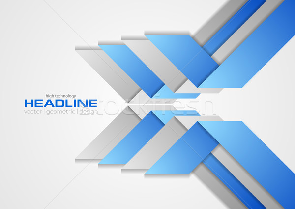 аннотация синий серый Tech бизнеса шаблон Сток-фото © saicle