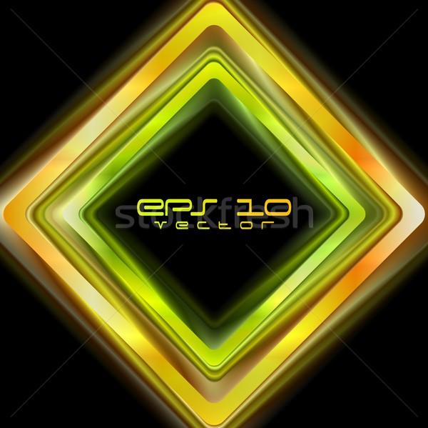 Színes absztrakt négyzetek vektor logo fényes Stock fotó © saicle