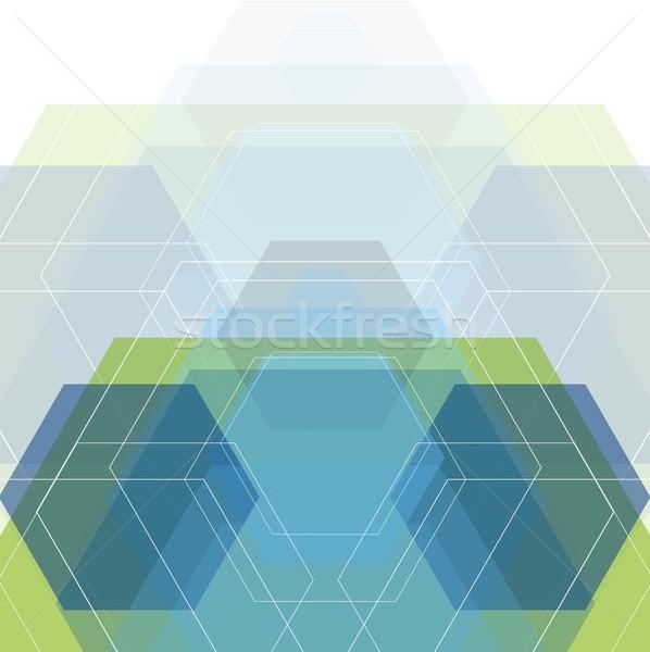 Abstract minimal geometric tech design Stock photo © saicle