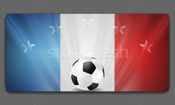 Stock photo: European Football Championship in France background